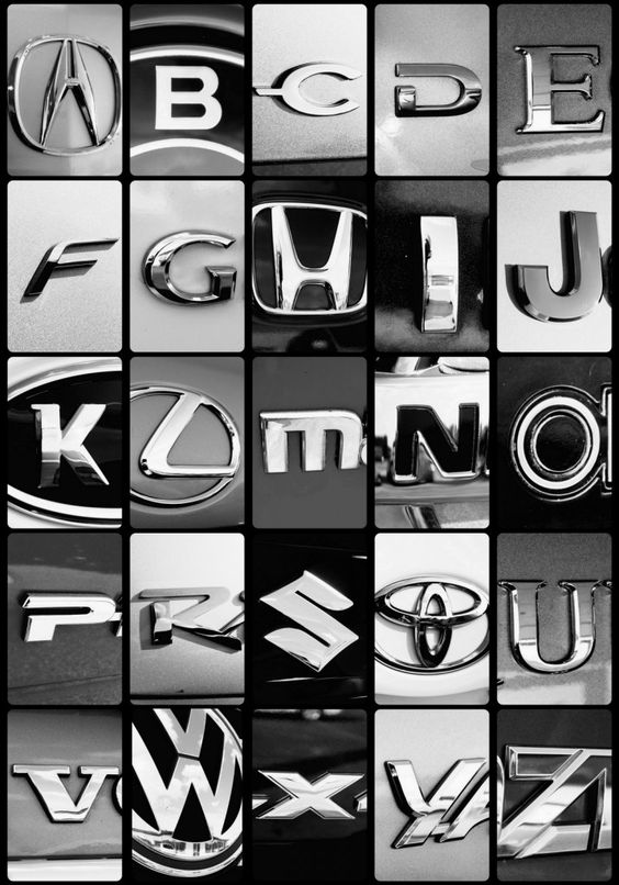 all makes and models of the alphabet